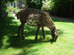 sculpture willow sheep 3 sold animal woven willow statues by