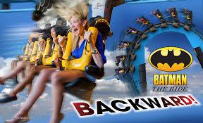 The Boss Six Flags Batman The Ride Backward Roller Coaster Six Flags St Louis