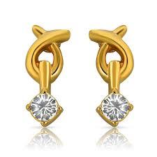 Buy Designer Gold Plated Golden Buy Mahi Eita Collection White Gold Plated Crystal Stones Earrings