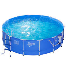 Intex Ultra Frame Pool 14x42 Summer Escapes 14 Ft X 42 In Metal Frame Pool Set Pool Fun At Kmart