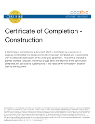 10 best images of sample letter of completion construction