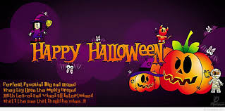 greeting card with quote happy halloween
