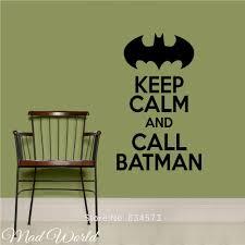 popular batman bedroom decor buy cheap batman bedroom decor lots mad world keep calm and call batman wall art stickers decal home diy decoration wall