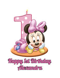 minnie mouse girl s 1st birthday edible image photo