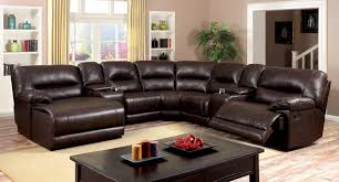 Motion Sectional Sofa Brown Leath Aire Motion Sectional Caravana Furniture