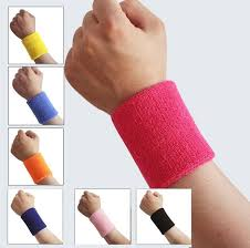 sweat bands 2 x sports wrist sweatbands tennis squash badminton wristband
