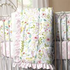 Pink And Yellow Bedding Pink And Gray Primrose Crib Bedding Carousel Designs