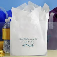 wedding gift bag 8 x 7 custom printed frosted wedding gift bags