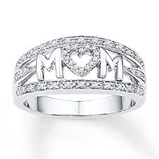 silver mothers ring ring 1 5 ct tw diamonds sterling silver