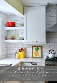 Installing Kitchen Backsplash by Kitchen Subway Tile Kitchen Backsplash Installation Jenna Burger