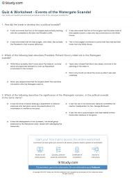 quiz u0026 worksheet events of the watergate scandal study com