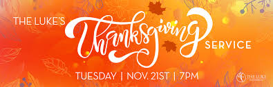 thanksgiving service nov 21