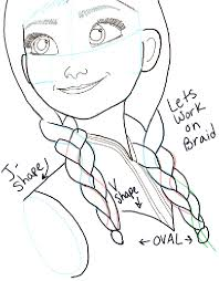 how to draw princess anna from frozen step by step tutorial how