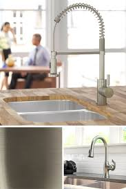 Satin Nickel Kitchen Faucet by Best 25 Brushed Nickel Kitchen Faucet Ideas On Pinterest Moen