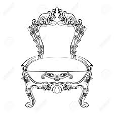 royal baroque vector classic chair furniture with ornate luxury