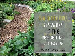 how to construct a swale in the residential landscape tenth acre