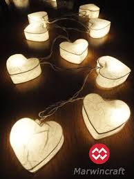 sale 10 2 set of 20 white hearairy string lights
