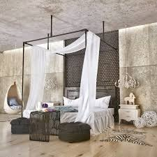 exposed concrete walls ideas inspiration with bedroom floor