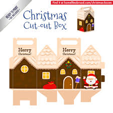 christmas santa house cut out box with ready to print templates