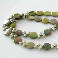 green pearls necklace images Green pearl necklace les deux artisans jpg