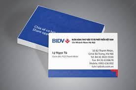 in card visit cá nhân thiết kế theo bộ nhận dạng thương hiệu doanh