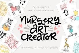 nursery art creator diy pack illustrations creative market