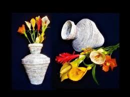 Life Of A Flower - how to make a flower vase with newspaper best out of waste diy