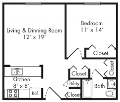 one bedroom floor plans for apartments ideas and studio picture