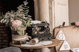 deco mariage original machine à écrire en location chez d day deco ddaydeco decoration