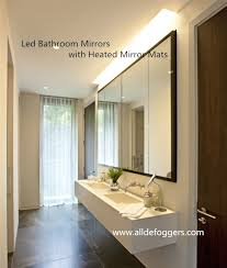 Heated Bathroom Mirror Cabinet by Heated Bathroom Mirror With Light Backlit Bathroom Mirror India