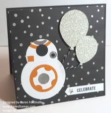 star wars birthday greetings star wars inspiration bb8 punch art handmade birthday card