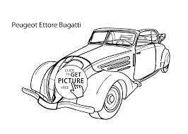 car peugeot ettore bugatti coloring page cool car printable free