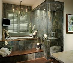 slate tile designs bathroom contemporary with wood flooring chrome