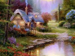 tale cottage dreamy cottages paintings by kinkade