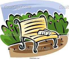 Benches In Park - park benches in park clipart