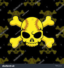halloween softball background jolly roger softball stock vector 301046366 shutterstock
