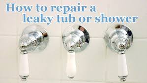 How To Fix Bathroom Shower Faucet How To Repair A Leaky Shower Or Tub Faucet Pretty Handy