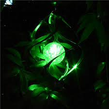 wind spinners with led lights color changing solar powered garden light outdoor courtyard hanging
