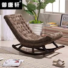 happy lazy small sofa chair single rocking chair terrace wood