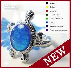 mood rings blue images Christmas gift turtle mood ring changing color rings magical jpg