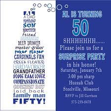 colors 50th birthday invitation wording