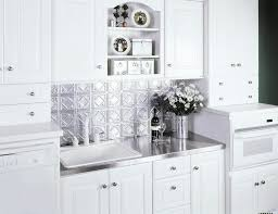 white kitchen cabinets with stainless steel backsplash boos stainless steel counter tops backsplashes