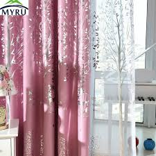 Pink And Navy Curtains Myru Mediterranean Navy Cloth Curtains Rural Silver Trees Printed