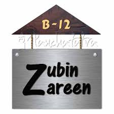 Nameplate Row House Name Plate Designs Personalized  Buy - Name plate designs for home