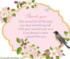 thank you dear friend for all the waysfriendship thanks card