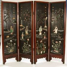 nice asian room divider black lacquer screen 4 panel room divider