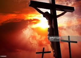 jesus crucified on the cross stock photo getty images