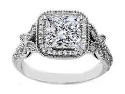 engagement rings vintage style engagement ring vintage style princess halo butterfly