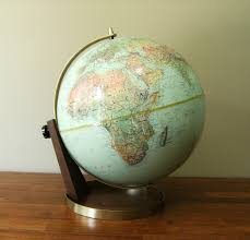 world globe home decor vintage nystrom inch readiness globe on wood base for world