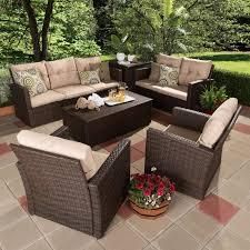 Bayou Breeze Dessie  Piece Rattan Sofa Set With Cushions - Wicker sofa sets
